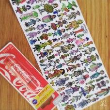 草間さんのポストカードとコーラ味のリップ♡