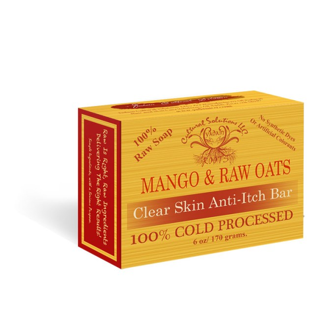 Mango & Raw Oats Clear Skin, Anti-itch Bar
