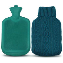 AZMED Hot Water Bottle with Premium Rubber for Pain Relief