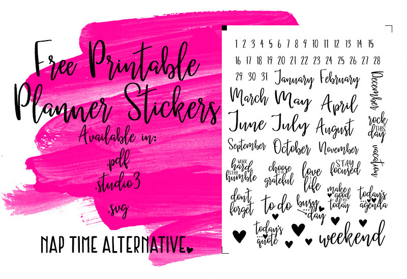 Summer is Coming -- FREE Planner Stickers | Nap Time Alternative