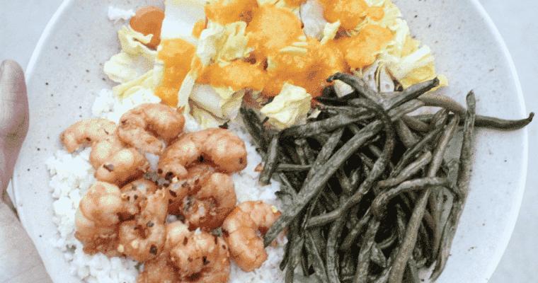 Coconut Lime Cauliflower Rice with Soyaki Shrimp