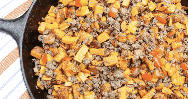 Sweet Potato and Sausage Breakfast Hash