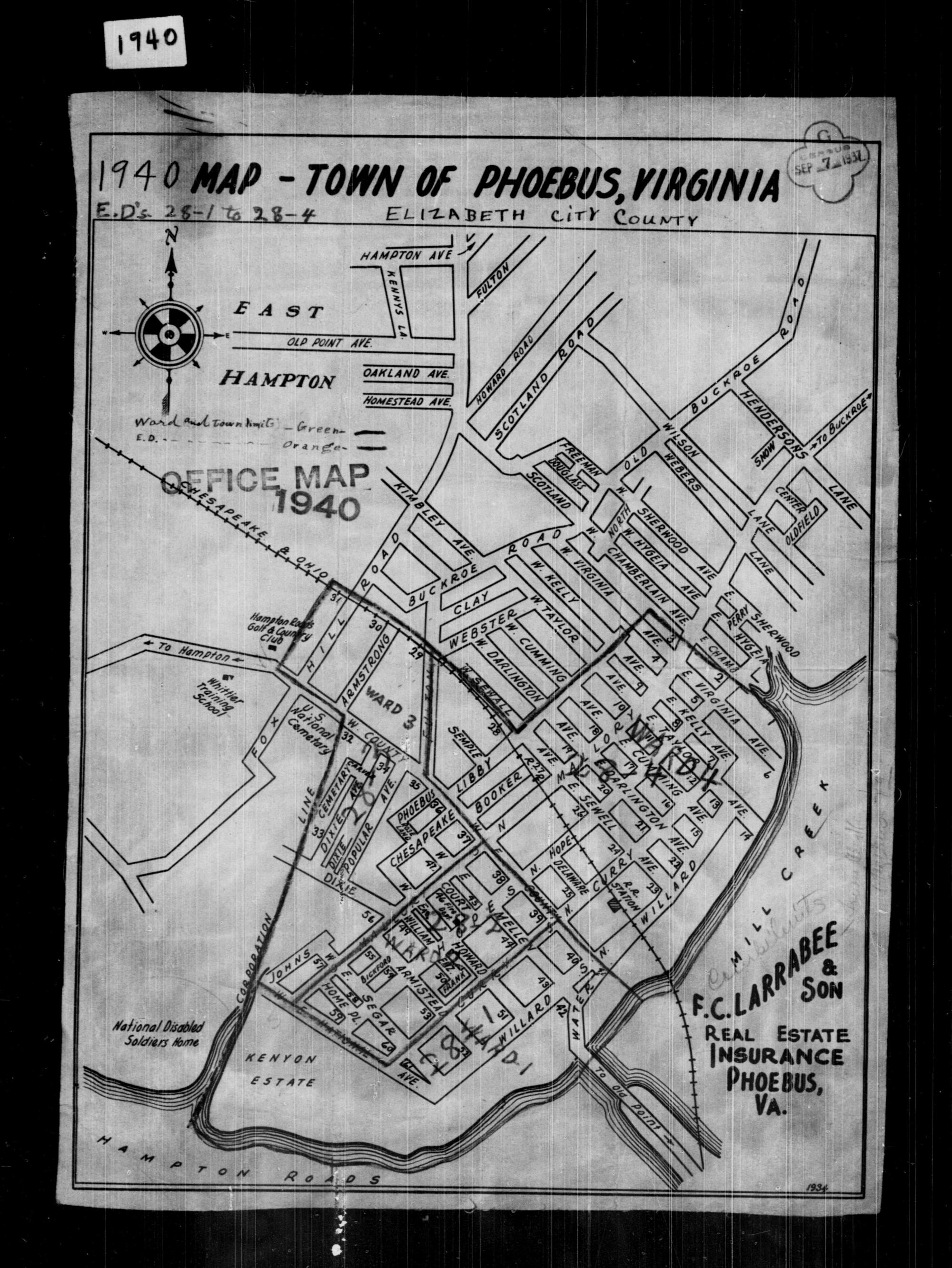 hight resolution of 1940 census enumeration district maps virginia elizabeth city county phoebus ed 28