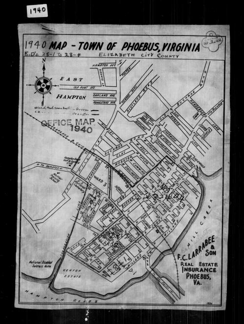 small resolution of 1940 census enumeration district maps virginia elizabeth city county phoebus ed 28