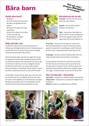 Informationsblad bära barn
