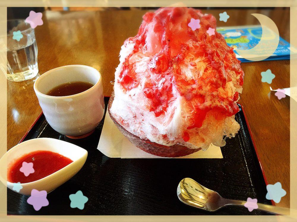 奈良町 プティマルシェ いちごかき氷