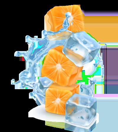 cubitos de hielo de naranja