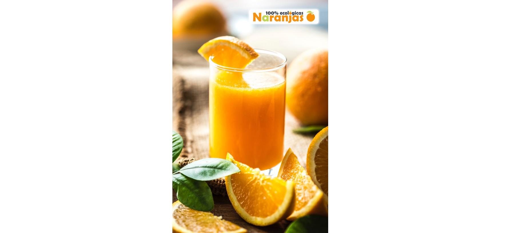 Desayuna un zumo de naranja ecológica