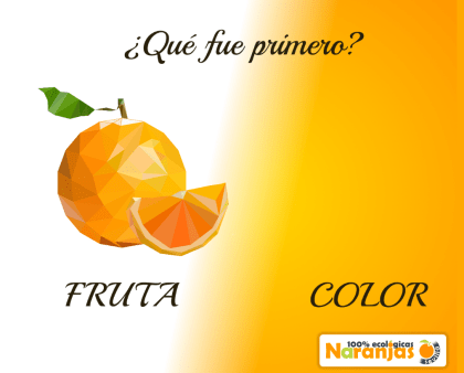 ¿Qué fue primero la fruta o el color naranja?