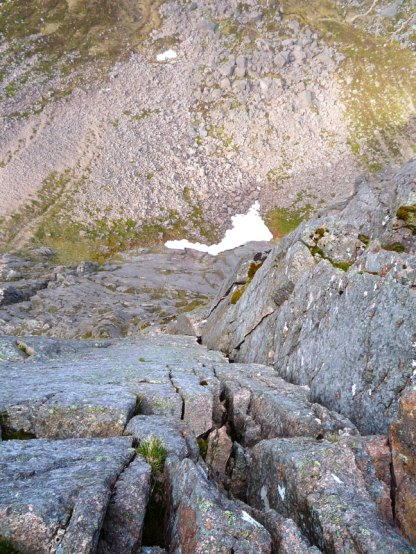 Looking back down the Needle Crack. pitch