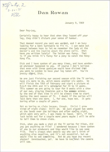 Dan Rowan Letter