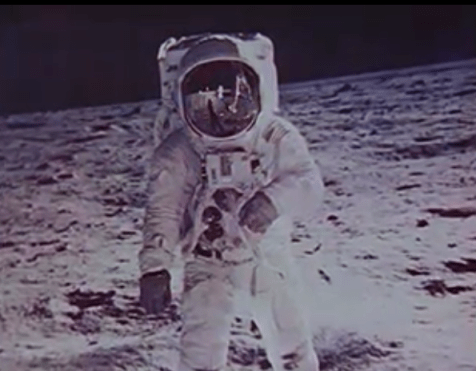 """Images taken from the NASA-created film """"The Time of Apollo"""", obtained by DPLA from NARA"""