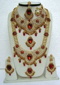 AMERICAN DIAMOND JEWELRY SAREES PARTYWEAR KUNDAN NECKLACE