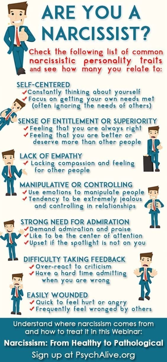 the narcissist infogram