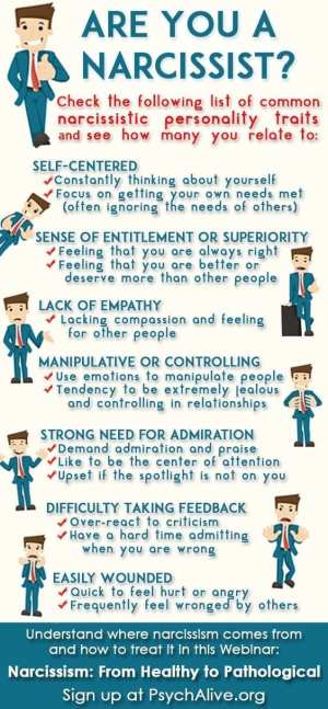 the narcissist infogram