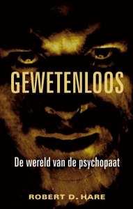 cover boek met bruik monsterlijk gezicht voor de wereld van de psychopaat
