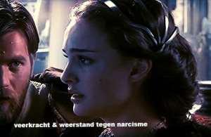 """foto van gesprek tussen vrouw en man met tekst """"Veerkracht en weerstand tegen narcisme """""""
