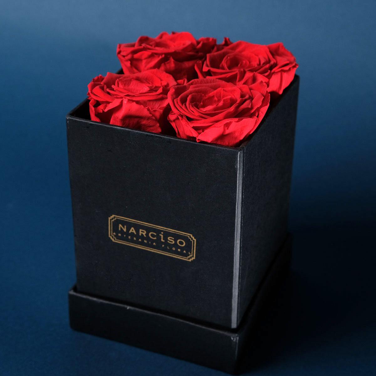 Hatbox rosas preservadas