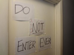 do not enter ever! teenager door sign--children or narcissists