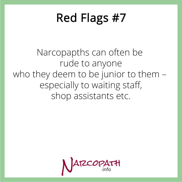 Narcopaths are often aloof and arrogant
