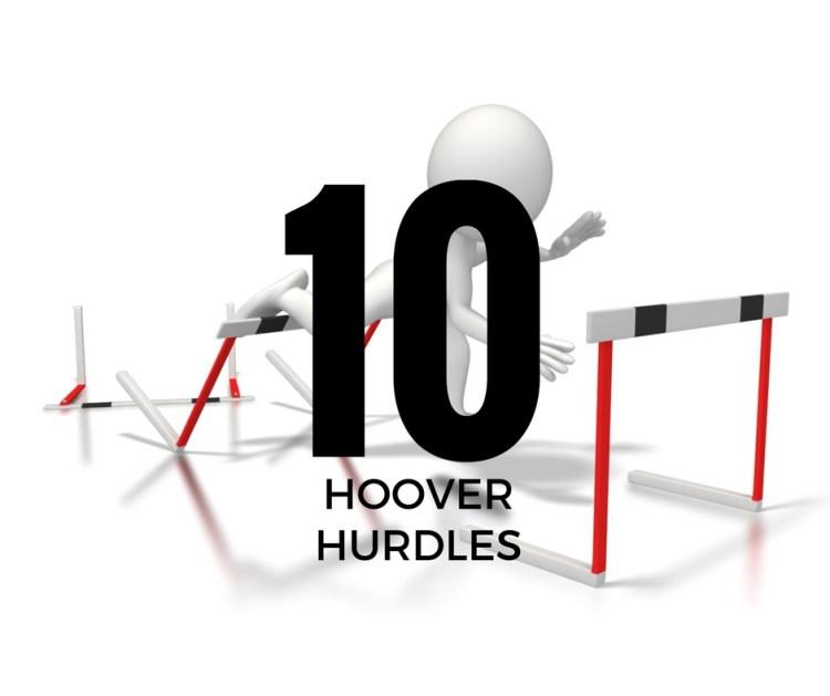 10 HOOVER HURDLES