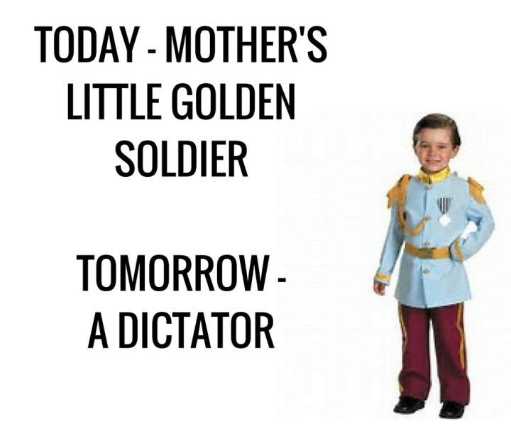 TODAY MOTHER'SLITTLE GOLDEN SOLDIERTOMORROWA DICTATOR