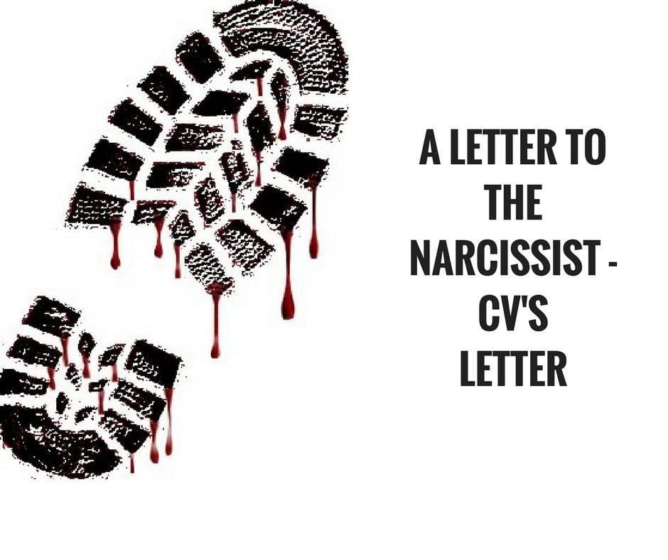 A Letter to the Narcissist – No. 40
