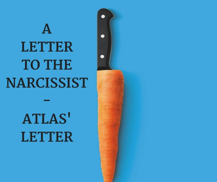ALETTERTO THENARCISSIST-ATLAS'LETTER