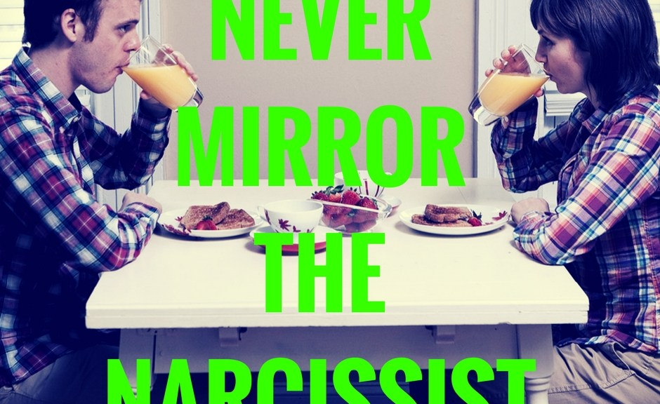 Narcissist With Two Mates And Mirror