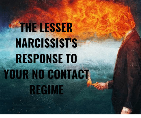THE LESSER NARCISSIST'S RESPONSE TO YOUR NO CONTACT REGIME