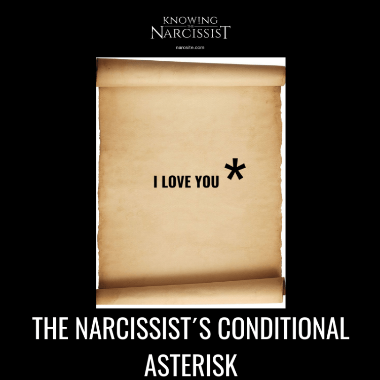 THE NARCISSIST´S CONDITIONAL ASTERISK