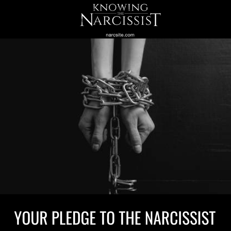 YOUR PLEDGE TO THE NARCISSIST