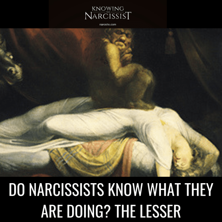 DO NARCISSISTS KNOW WHAT THEY ARE DOING? THE LESSER