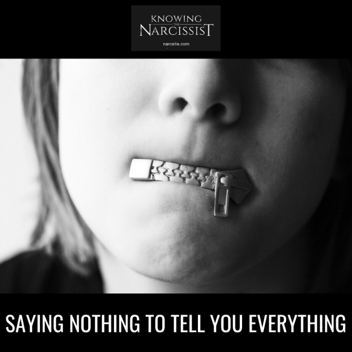 SAYING NOTHING TO TELL YOU EVERYTHING