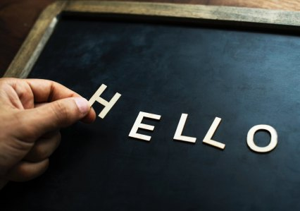 'Hello, how are you' and other pleasantries aren't used