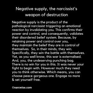 Negative supply