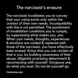 The narcissist's erasure