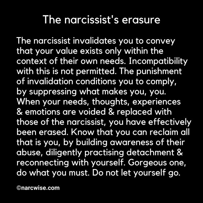 Emotionally unhook yourself & starve the narcissist of supply