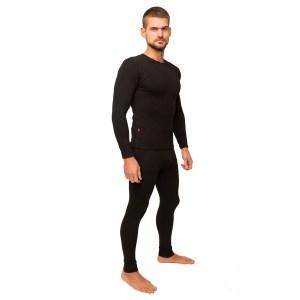 Термобельё мужское зимнее НАТАЛЮКС (-20°С), термокальсоны+футболка с длинным рукавом (65% - вискоза, 30% - полиэстер, 5%-эластан)