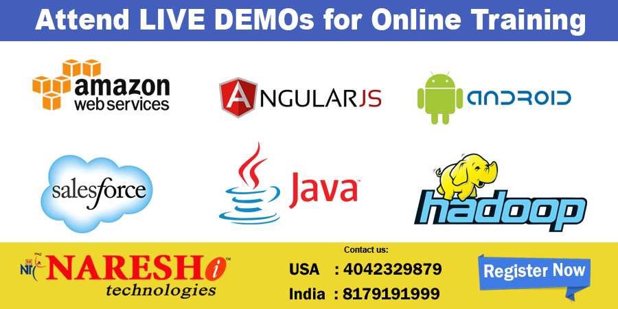Attend LIVE DEMOs for Online Training