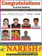 Pervacio Placed naresh IT Students