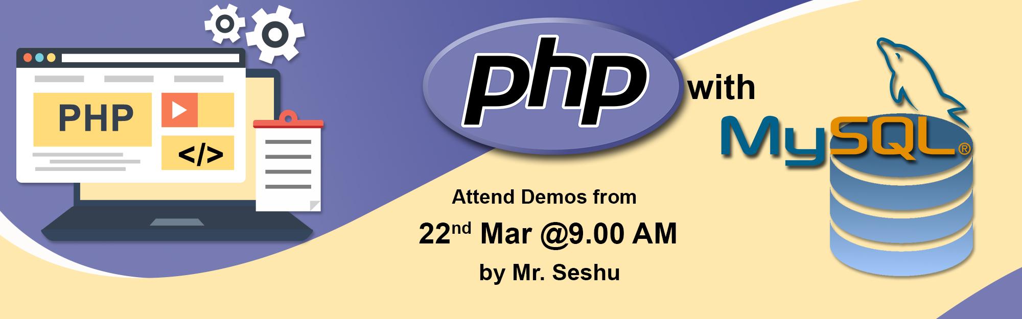 PHP with MYSQL-Training-Hyderabad