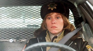 """The movie """"Fargo"""", directed by Joel Coen and written by Ethan Coen and Joel Coen. Seen here, Frances McDormand as Marge Gunderson. Initial theatrical release March 8, 1996. Screen capture. © 1995 PolyGram Film Productions. Credit: © 1995 PolyGram / Flickr / Courtesy Pikturz. Image intended only for use to help promote the film, in an editorial, non-commercial context."""