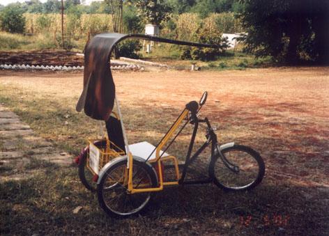 Manhara Motor Assisted Nari Handicapped Rickshaw