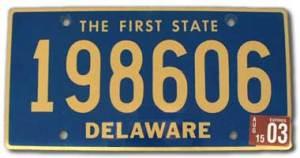 DelawareLicensePlate