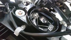 LED H4フランジ装着