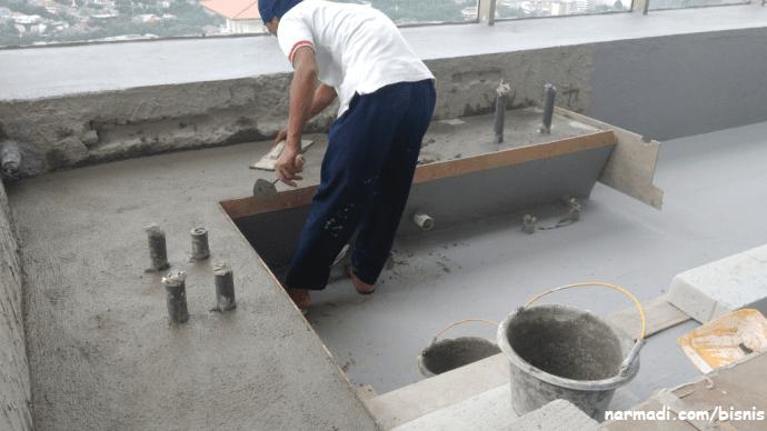 Proses pekerjaan plester ulang