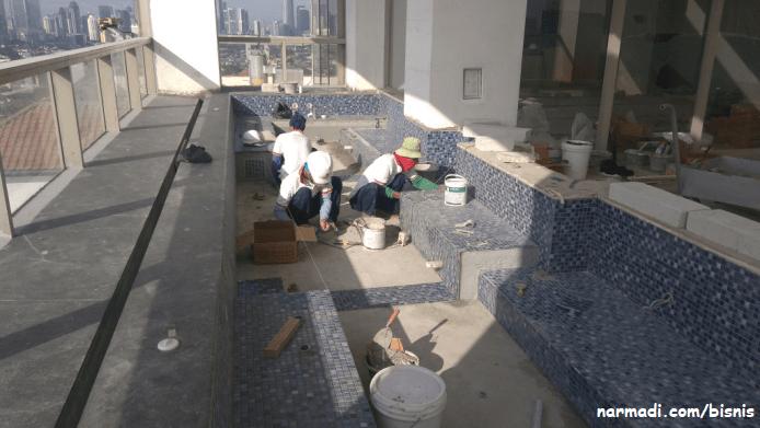 Pemasangan mosaic