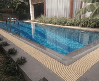 Ukuran lebar gutter kolam renang standar