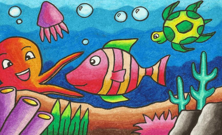 Cara Mewarnai Gambar Supaya Bagus Pakai 8 Jenis Crayon Ini